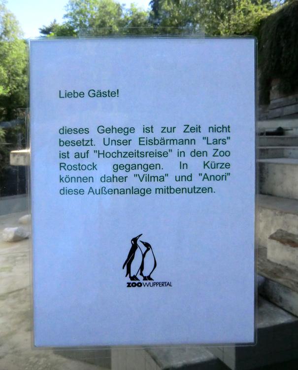 www.zoo-wuppertal.net - Auf Wiedersehen Eisbär Lars